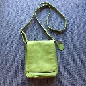 Iris Tyler Leather Lime Green Crossbody Bag